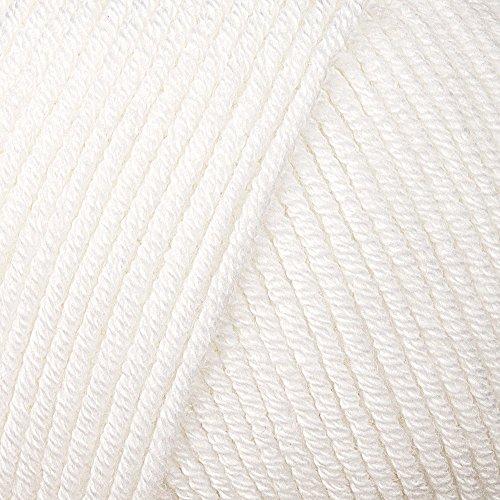 Lana Grossa Wolle Elastico 001 weiß (Baumwolle Stricken Knopf)