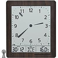 AMS 5893 Orologio Parete Moderno, marrone - Radiocontrollato Orologio Da Parete Analogico