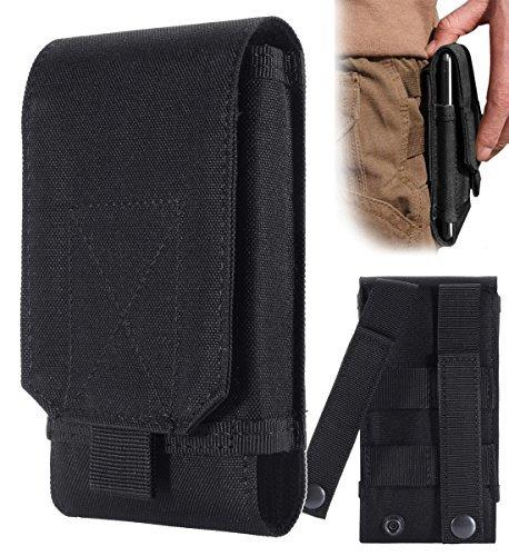 Urvoix Gürteltasche für das Smartphone, Camo-Armee-Stil, Handy-Schutzhülle, Größe L, schwarz