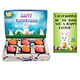 #3: BOGATCHI Chocolate Eggs , Easter Chocolate Eggs, Chocolate Eggs for Easter Celebrations, 6 pieces + FREE - Greeting Card for EASTER