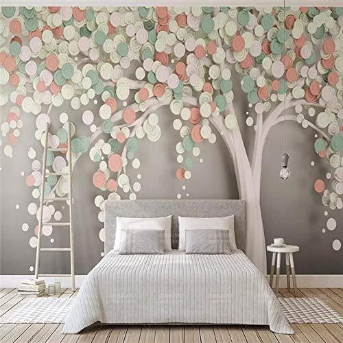 YUSDK Wandbild 3D skandinavische Moderne Candy Baum tv Hintergrund Wand Nahtlose vlies 3D tapete Wohnzimmer tv Sofa wanddekoration, 350 * 256 (Candy Bäume)