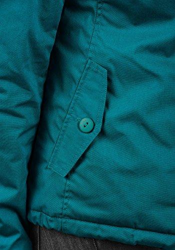 DESIRES Tilda Damen Übergangsjacke Jacke gefüttert mit Kapuze, Größe:XS, Farbe:Dark Petrol (1298) - 6