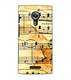 Fuson Designer Back Case Cover for Alcatel Flash 2 :: Alcatel Onetouch Flash 2 (Musical Notes Theme)