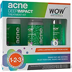 WOW Acne DEEP IMPACT TREATMENT KIT - STEP 1-2-3 - Acne Spot Therapy - No Parabens - No Sulphate