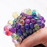 Bright Enterprise Anti Stress Mesh/Bulb Spongy Ball Toy Grape Stress Relief Squeezing Ball