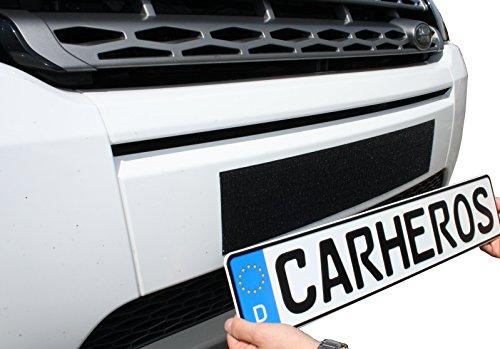 Preisvergleich Produktbild CarHeros Kennzeichenhalter rahmenlos Nummernschildhalter Klettband selbstklebend Klettverschluss 520mm