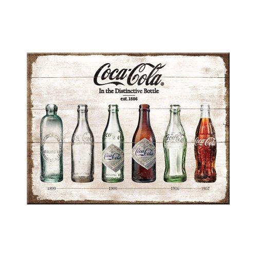 Nostalgic-Art 14335 Magnet Coca-Cola Bottle Timeline