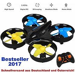 Race Coper Quadcopter mit 3D 6 Achsen Kompass mit Headless Mode und Auto Return!Einfache Bedienung!Führerscheinfrei!360° Flip Funktion,Racing Quadrocopter