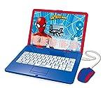 Lexibook Disney Marvel Spider-Man - Computer educativo bilingue con Schermo per Imparare 120 attività Matematiche, Musica, logica, Giochi, Francese/Inglese, JC595SPi1, Blu/Rosso
