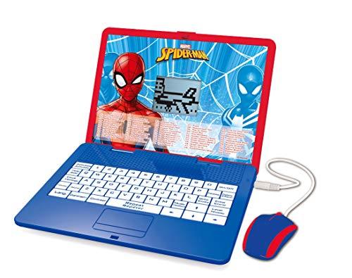 Lexibook Disney Marvel Spider-Man Lerncomputer, zweisprachig, mit Display, für 120 mathematische Aktivitäten, Musik, Logik, Spiele, Französisch/Englisch, Blau/Rot, JC595SPi1