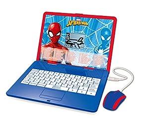 LEXIBOOK Disney Marvel Spider-Man JC595SPI1 - Ordenador Educativo bilingüe con Pantalla para 120 Actividades matemáticas, música, lógica, Juegos, francés e inglés, Color Azul y Rojo