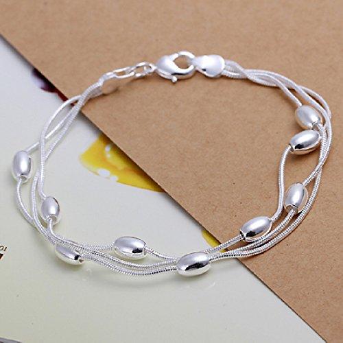 Unique-Fashion-925-baado-en-plata-cadena-de-joyera-mano-pulsera-de-perlas-de-tres-cadenas-con-Oval-lisa