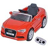 vidaXL Kinder Elektroauto mit Fernbedienung Rot Kinderfahrzeug Kinderauto