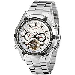 Forsining Men's Luxury Automatic Day Calendar Tourbillon Brand Collection Wrist Watch FSG340M4T2