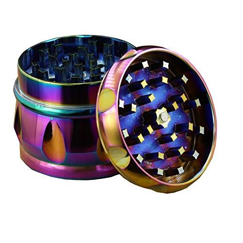 Engshwn Nuevo diseño tambores de aleación de zinc superior de polen de especias picantes hierba picadora de molino con colector de polen 4 piezas 63 mm