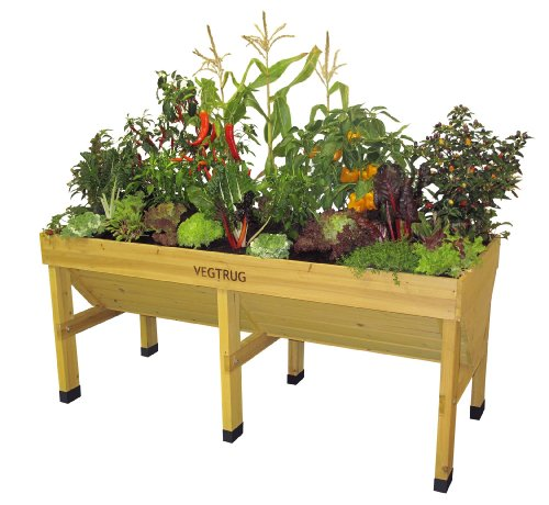 Mesa de cultivo de madera Vegtrug grande