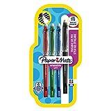 Paper Mate Erasable Gel stylo gel effaçable, pointe moyenne 0,7mm, couleurs standard assorties, Lot de4