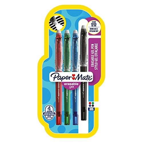 paper-mate-erasable-gel-penna-a-punta-media-da-07-mm-colori-standard-assortiti-confezione-da-4