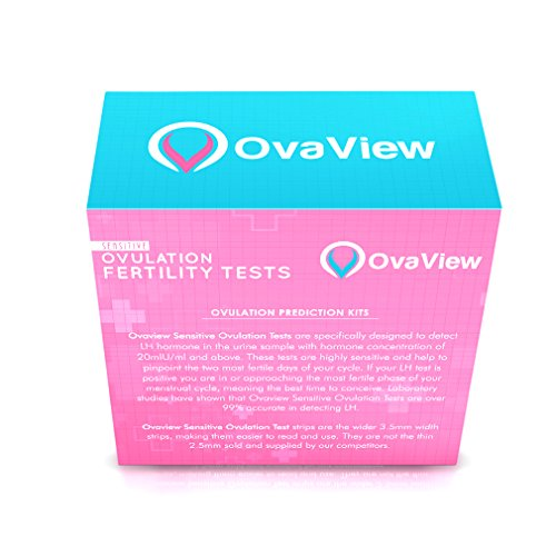 Pack-of-60-Ovaview-Sensitive-OvulationFertility-Tests-Kit-20mlUml-Extra-Wide-Width