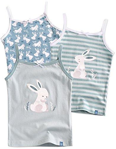 Vaenait baby 86-122 Maedchen Kinder Unterhemd 3-Packung Top Set Cami Baby Bunny S