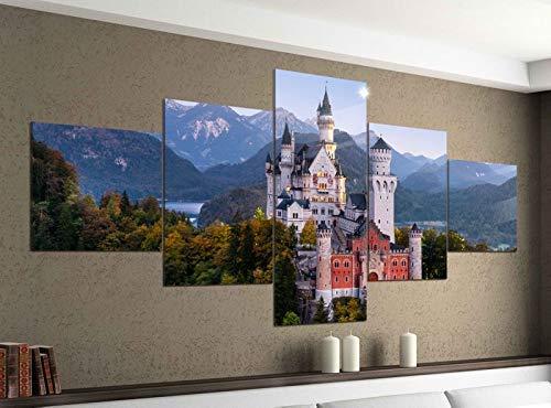 Acrylglasbilder 5 Teilig 200x100cm Neuschwanstein Schloss Burg Bayern Druck Acrylbild Acryl Acrylglas Bilder Bild 14F1004