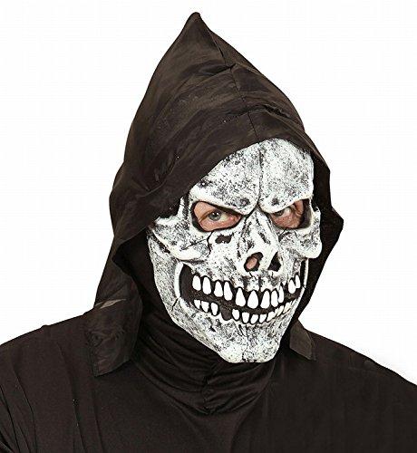 Widmann 00838 - Maske Totenkopf mit Kapuze