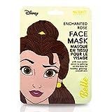 Disney Belle - Maschera per il viso per donne e ragazze, motivo: La Bella e la Bestia Più divertimento nella cura della pelle: la maschera nutriente è imbevuta di acqua di rose lenitiva e lozione. La maschera divertente è nota dai soci...