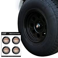 GRAPHICS & MORE Planet Jupiter Solar System Tire Wheel Center Cap Resin-Topped Badges Stickers