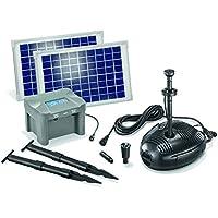 esotec Milano Solar LED-sistema de bomba de estanque con batería LED-iluminación