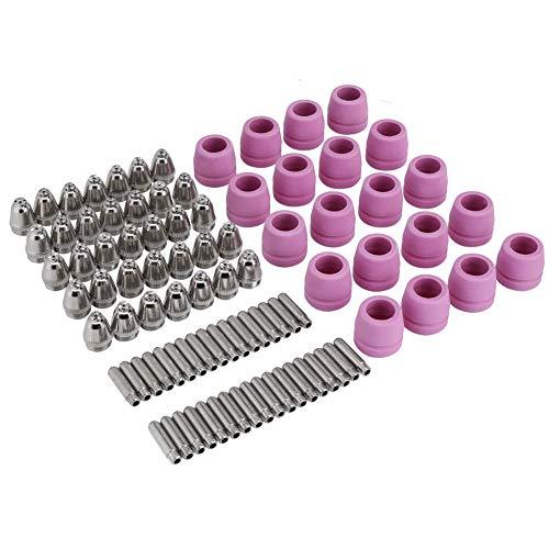 90 teile/satz Gaslinse Düse Collet Körper Plasmaschneider Schneidbrenner Verbrauchsmaterial Elektroden Düsen Tassen Kit