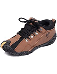 TR Synthetic Leather Casual Shoes For Men (Brown/Tan)
