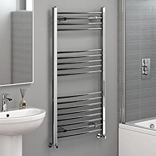 iBathUK 1200 x 600 Straight Heated Towel Rail Chrome Bathroom Radiator - All Sizes NC1200600