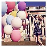 Amaoma 8 Stück Luftballons 36 Zoll Riese Ballons Groß Latex Ballon mit Ballpumpe, Extra Große Ballons für Geburtstag Valentinstag Jubiläum Verlobung Wedding Kindergeburtstag Hochzeit Party Dekoration (8x 36-Zoll Große Ballons)