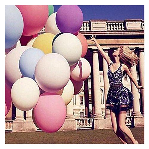 Amaoma 8 Stück Luftballons 36 Zoll Riese Ballons Groß Latex Ballon mit Ballpumpe, Extra Große Ballons für Geburtstag Valentinstag Verlobung Wedding Party Dekoration (8X 36-Zoll Große Ballons) (Luftballons Latex Große)