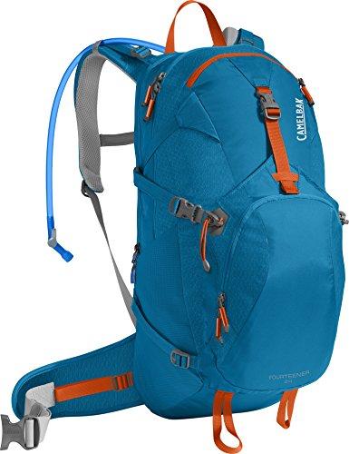 CamelBak Products LLC Fourteener 24 Hydration Pack Trinkrucksack, Grecian Blue/Pumpkin, 100 oz -