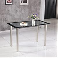 hawastar rectangle en verre tremp transparent table de salle manger salle manger