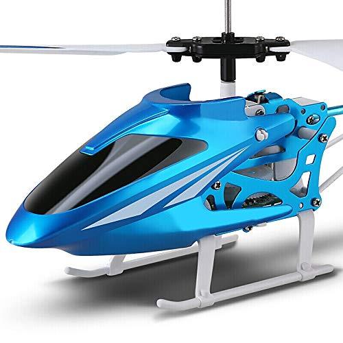 Ycco RC Hubschrauber-Flugzeug-Drone - Kind Boy Wiederaufladbare Kämpfer Spielzeug Stable eingebaute Gyro Anti-Collision 3.5-Kanal-Fernbedienung Flugzeug mit LED-Licht Mini for Kinder Erwachsene Anfäng