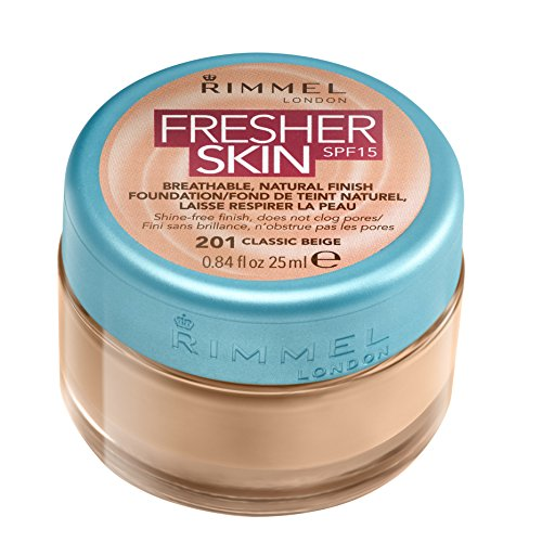 Rimmel London Fresher Skin SPF 15 Breathable Natural Finish Foundation - 201 Classic Beige