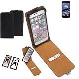 K-S-Trade Flipstyle Hülle für Switel eSmart E2 Handyhülle Schutzhülle Tasche Handytasche Case Schutz Hülle + integrierter Bumper Kameraschutz, schwarz (1x)