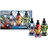 Marvel, Avengers, Set da regalo con dispenser a forma di teste di supereoi