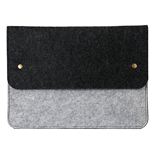 Moollyfox Custodia Per iPad Mini/iPad Air Laptop Sleeve Felt Busta Copertura Case Portatile Grigio