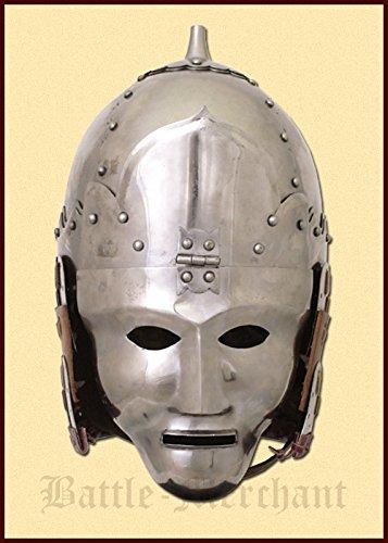 Mongolischer Helm, 14. Jahrhundert Dekohelm schaukampftauglich Ritterhelm LARP (Mongolische Kostüm)