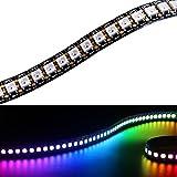 Cadena de luces LED Matrix WS2812B tira LED de 1 m, 144LEDs/M 5050RGB SMD 5V, a todo color, no impermeable, Fpc, Schwarz FPC IP20