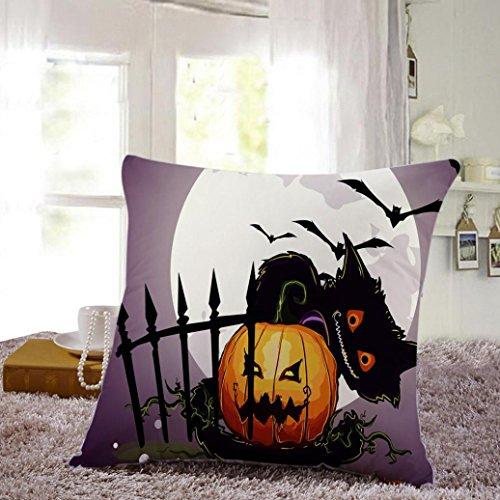 Happy Halloween calabaza cojín, 1pc omiky® Bate de bruja fantasma gato búho...