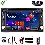 Eincar 2 Din In Car Radio Audio Video Rear Camera GPS MAP Sat Navigation Radio Bluetooth Car Stereo DVD CD Player with Remote Control+Back Camera