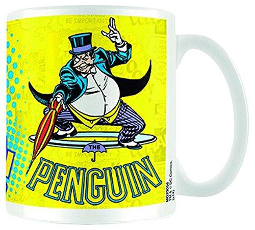 Empire Poster DC Comics Batman Penguin Taille (cm) env. Tasse en céramique Blanche avec Inscription en Anglais « H9,5 » - Contenance : 320 ML - Passe au Lave-Vaisselle et au Micro-Ondes