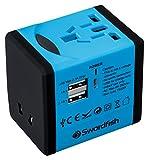 SWORDFISH 40248 USB-Reiseadapter blau