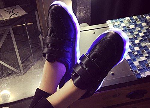 [+Kleines Handtuch]Kinderschuhe USB Lade Licht Jungen emittierende Schuhmädchenschuh leuchtende LED beleuchtete Sportschuhe großer Junge Sc c3
