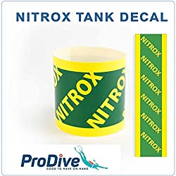Nitrox Tank Decal Sticker piccolo grande Dive cilindro