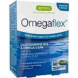 Glucosamine Omegaflex biodisponible, huile de poisson sauvage et huile d'onagre biologique plus manganèse, vitamine C et vitamine E, soutien intensif pour la santé des articulations, omégas purs 3 et 6, formule combinée d'huile de poisson haute en EPA concentré à 70 % - 60 capsules